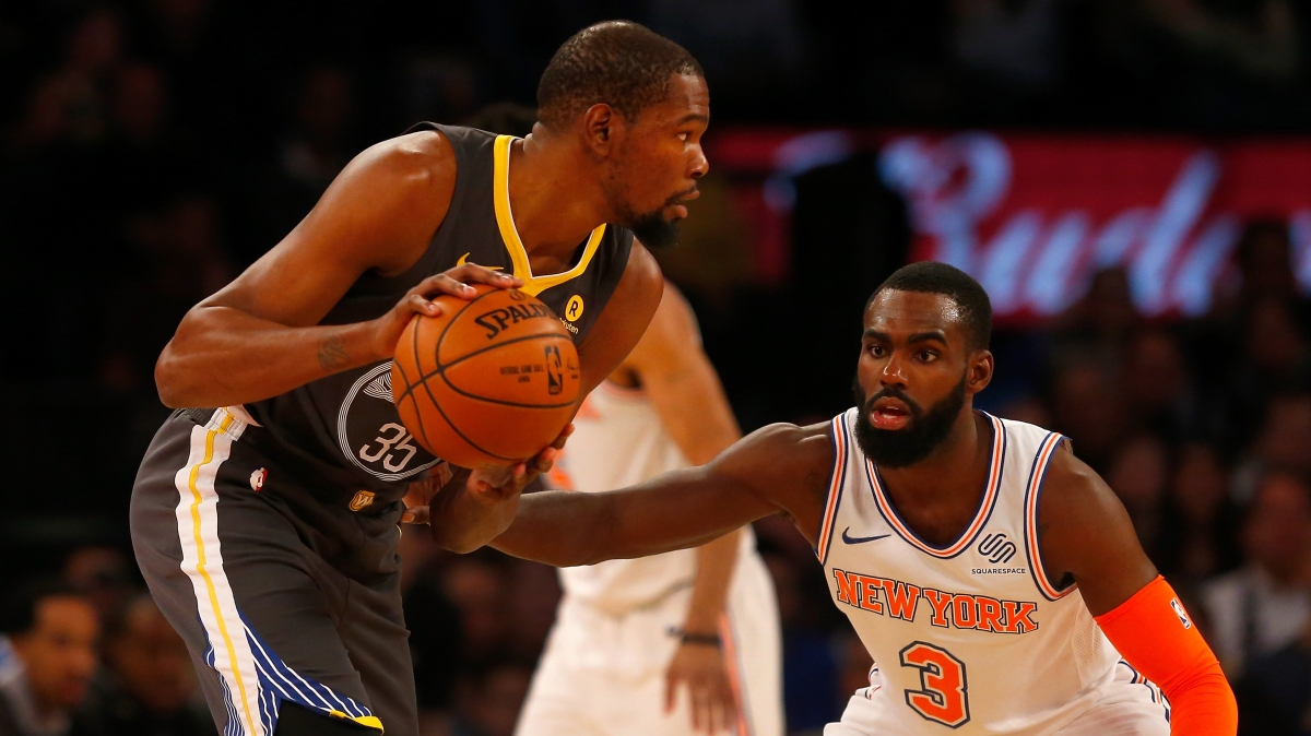 'I Don't Know Where I'm Playing Next Year' says KD While Covering Up Knicks Apparel